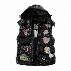 France Moncler Limited Edition Black Vest Men Online Store