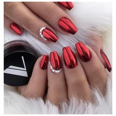 "3,971 Likes, 25 Comments - Margarita (@margaritasnailz) on Instagram: ""✔️✔️ • • • Red chrome @valentinobeautypure…"""