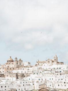 Beautiful view of Ostuni, Puglia, Italy. Photo: Kate Holstein