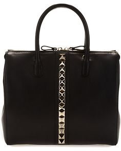 "Valentino ""Va Va Voom"" Leather Double Handle Bag #valentino"