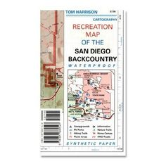 Tom Harrison Cartography Recreation Map of the San Diego Backcountry