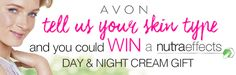 Hey there, I just entered the Avon Nutra Effects competition and thought you might be interested. The prize is a Nutra Effects Day and Night Cream Gift Pack!  To enter, visit - http://www.joinavon.com.au/referfriend/index/4oUUpAT9kHmO5h3CtP6WoOhqGxUDCceU