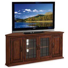 "Leick Furniture 56"" Corner TV Stand, Brown"