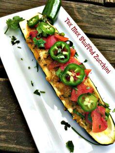 Tex Mex Stuffed Zucchini #GetHimFed