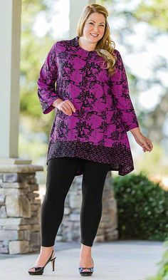 Floret Batik Shirt Jacket / MiB Plus Size Fashion for Women / Spring Fashion  / Valentine's Day Fashion http://www.makingitbig.com/product/5117