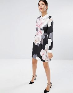 e2aad08bc8ee7 Ted Baker Lascii Porcelain Rose Collar Dress at asos.com