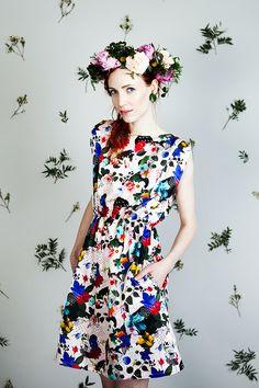 Uhana Design SS16 flower patterned dress.