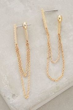 Anthropologie Chainlink Earrings #anthrofave
