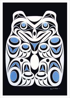 Image detail for -Joe Wilson Coast Salish Art Card Design Spirit Bear | eBay