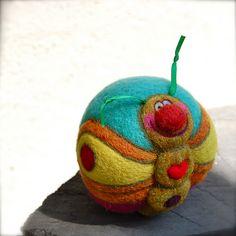 needle felted butterfly ball by asherjasper, via Flickr