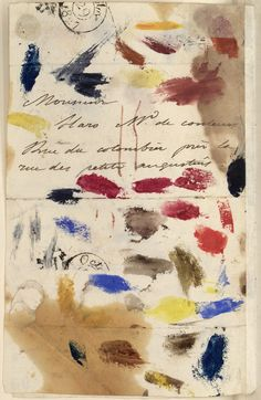 Letter from Eugene Delacroix to his paint dealer