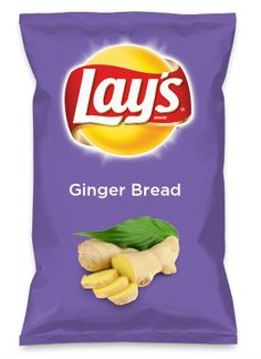 Introducing my new 'GingerBread' Lays flavor. A great flavorful soft crunch styled patato chip that taste like cinnamon pancakes with a hint of ground #ginger.  The kids will go crazy for this New Flavor #gingerbread  Dont forget to 'LIKE' and VOTE this flavor.   Wouldn't Ginger Bread be yummy as a chip? Lay's Do Us A Flavor is back, and the search is on for the yummiest flavor idea. Create a flavor, choose a chip and you could win $1 million! https://www.dousaflavor.com See Rules.