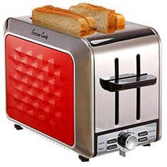 Amazon.com: Fortune Candy KST011 Stainless Steel 2 Slices Toaster with Diamond Pattern (Raspberry Red): Kitchen & Dining