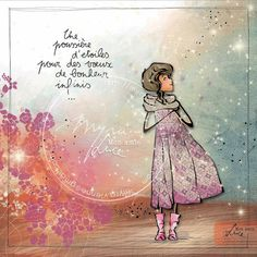 Illustration Française, Illustrations, Jolie Images, Love Sms, Positive Attitude, Plexus Products, Art Girl, Book Art, Whimsical