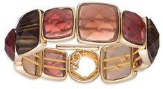 Anne Klein Square Cushion Bracelet #burgundy #bracelet #pink #gold #fashion