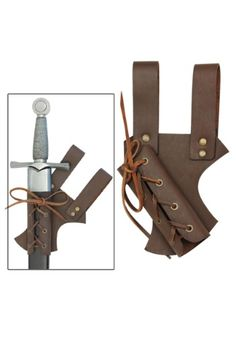 Having problems keeping daggers and swords in your pockets? This Medieval Leather Sword Sheath should help with that problem. Warriors and knights alike can rejoice!