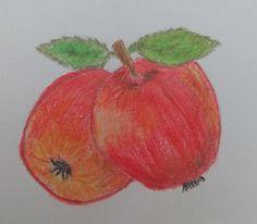 Draw apple fruit drawing