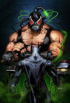 Batman vs Bane imposing art by Marcio Abreu Comic Book Artists, Comic Book Characters, Comic Character, Comic Books Art, Comic Art, Batgirl, Catwoman, Batman Vs, Batman The Dark Knight