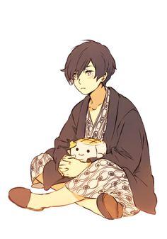 Sketch Persona 3 makoto yuki i love that happy cube...