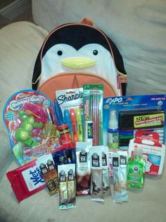 Penguin Back Pack Filled With Supplies No One COLD Possible Love You Like We