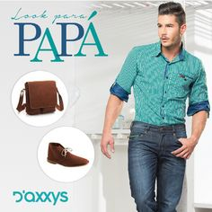 Porque no es solo un día, si no todo un mes, aún puedes sorprender a papá con la #MarcaDelDía: D´axxys Jeans, locales: 2290-2291, tel: 3521372. #ColombianoCompraColombiano