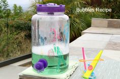 Easy Homemade Bubbles Recipe | Outdoor Kid Fun