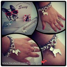 Jewelry Pendant Silver French Bulldog