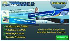Los encabezados que ofrecemos en Servicios Web son de Alta Calidad y Definición, siempre ajustados a los colores y nicho de su web.