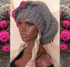 """Купить Вязаная шапка """"3D CLOUD LUXE"""" от Olga Lace - вязаная шапка, объемная шапка"""