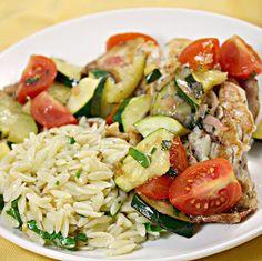 Zucchini and Tomato Parsley Orzo