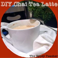 The Gypsy Teacher: DIY Chai Tea Latte  Stop paying $5 for your favorite drink at Starbucks, and make your own at home!