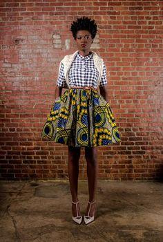 Demesticks  NY African print skirt ciaafrique