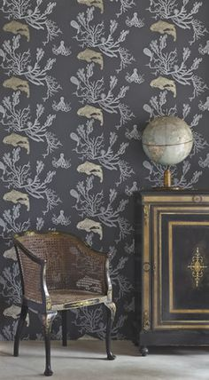 Coral Wallpaper, Designer wallpapers for walls and designer upholstery fabrics   Barneby Gates