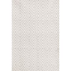 Dash and Albert Rugs Diamond Platinum & White Indoor/Outdoor Area Rug