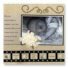 Newborn Baby Scrapbook Page
