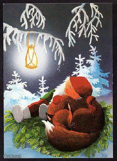 Kaarina Toivanen Christmas Eve, Christmas Cards, Xmas, Great Pictures, Gnomes, Scandinavian, Illustration Art, Prints, Finland