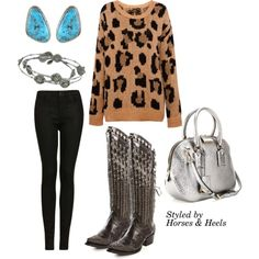 """""""Leopard & Turquoise"""" by horsesandheels on Polyvore"""