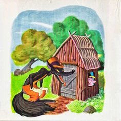 Cuentos infantiles: Los tres cerditos. Cuento ilustrado. Big Bad Wolf, Painting, Angel, Illustrations, Three Little Pigs, Animals, Reading Books, Infant Learning Activities, Painting Art