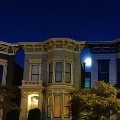 Moonrise: San Francisco Victorians brockkeeling's photo on Instagram