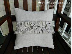 Ruffle & Rosettes Pillow. $31.00, via Etsy.