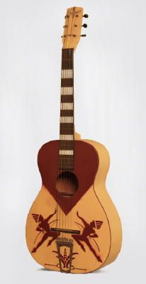Serenader 'Two Indians' Model Flat Top Acoustic Guitar, made by Harmony  (1940's)