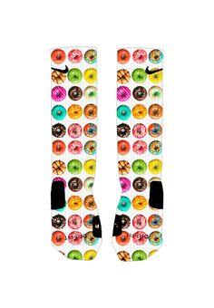 Donuts Socks Custom Nike Elite Socks by ShopElevateGear on Etsy Nike Elite Socks, Nike Socks, Nike Basketball Socks, Basketball Outfits, Buy Basketball, Sports Socks, Basketball Season, Nike Inspiration, Nike Motivation