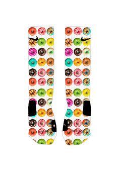 I already BOUGHT these but BELIEVE IT OR NOT MICHAEL HAS DONUT BASKETBALL SOCKS ON HIS XMAS LIST..Gotta love that goofball!!!  Just to give you an idea that he loves goofy socks!!