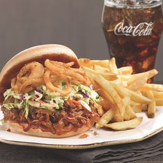 Marie's BBQ Pulled Pork Sandwich…yeah, it's drool worthy and only here for a limited time! #BBQ #PulledPork #MarieCallenders