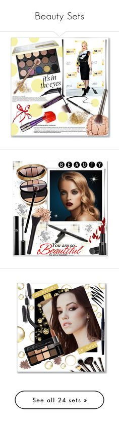 """""""Beauty Sets"""" by christinacastro830 ❤ liked on Polyvore featuring beauty, Urban Decay, Tom Ford, Giorgio Armani, Bare Escentuals, Borghese, Smashbox, Gucci, Bobbi Brown Cosmetics and NYX"""