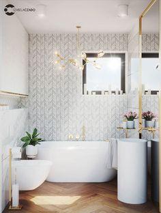 łazienka jasna 4 m kw. - okno Bathroom Renos, Bathroom Ideas, Bathrooms, Home Board, Bathroom Design Small, Clawfoot Bathtub, Bath Time, Diy And Crafts, Mirror