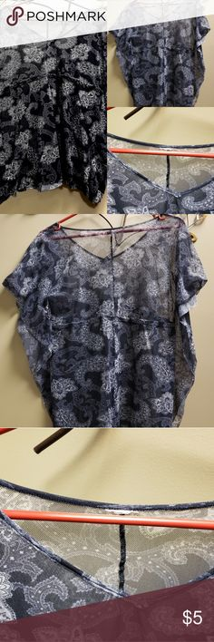1da1f81dcc 3 for  10 🎅 WOMENS PEASANT TOP SIZE L Sheer