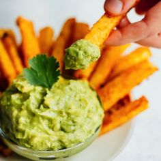 Gut-friendly baked jicama fries with turmeric and black pepper. Serve with fresh guacamole for a delicious summer side! Vegan, paleo, low-carb and keto.
