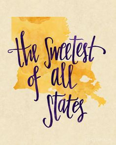 I think my sugar queens need this! Louisiana print by kristenvasgaard on Etsy Louisiana Map, Louisiana Homes, New Orleans Louisiana, Louisiana Creole, What A Wonderful World, Funny Maps, Lsu Tigers, Down South, Mississippi