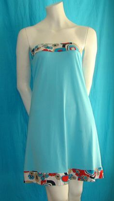 Strapless colourful cotton viscose dress NOW ON by bedilaeleni, $28.00
